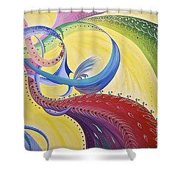 Baubles N Bows Shower Curtain