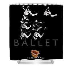 Bauhaus Ballet Black Shower Curtain by Charles Stuart