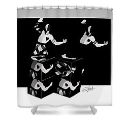 Bauhause Ballet Shower Curtain by Charles Stuart