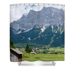 Bavarian Alps Landscape Shower Curtain by Carol Groenen