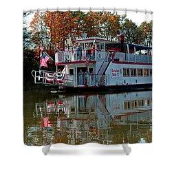 Shower Curtain featuring the photograph Bavarian Belle Riverboat by LeeAnn McLaneGoetz McLaneGoetzStudioLLCcom