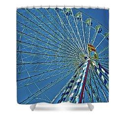 Bavarian Fairy Wheel Shower Curtain by Juergen Weiss