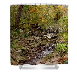 Shower Curtain featuring the photograph Baxter's Hollow II by Kimberly Mackowski