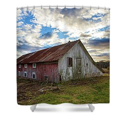 Bay Avenue Barn Shower Curtain