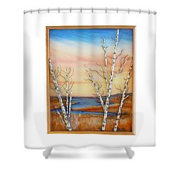 Bay Birch Shower Curtain