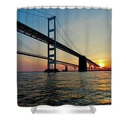 Bay Bridge At Sunset  Shower Curtain