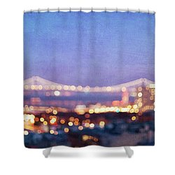 Bay Bridge Glow - San Francisco, California Shower Curtain