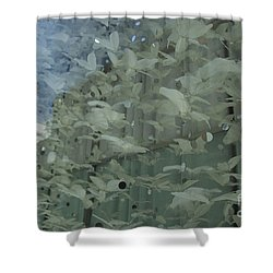Shower Curtain featuring the photograph Bay City Reflections by Jeanette French