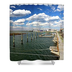 Bay Clouds Shower Curtain