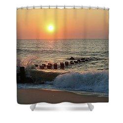 Bay Head Beach Sunrise 1 Shower Curtain