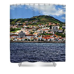 Bay Of Horta Shower Curtain