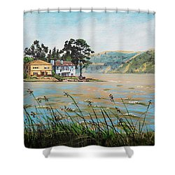 Bay Scenery With Houses Shower Curtain