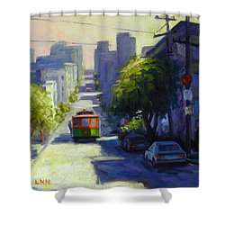 Bay Street San Francisco Shower Curtain