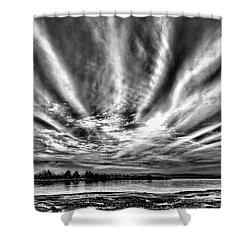 Bayfarm Island Sunrise Shower Curtain