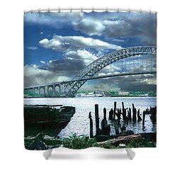 Bayonne Bridge Shower Curtain