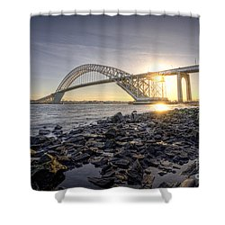 Bayonne Bridge Sunset Shower Curtain