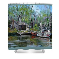 Bayou Shrimper Shower Curtain