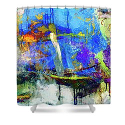 Shower Curtain featuring the painting Bayou Teche by Dominic Piperata
