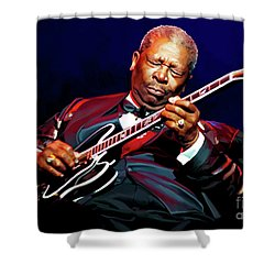 Bb King Shower Curtain by Paul Tagliamonte