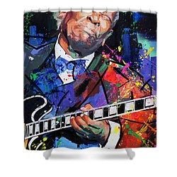 Bb King Portrait Shower Curtain