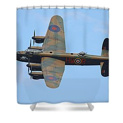 Bbmf Lancaster Bomber Shower Curtain