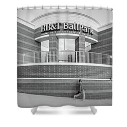 Bbt Ballpark Building Shower Curtain