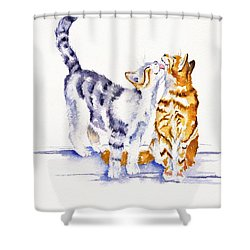 Be Cherished Shower Curtain by Debra Hall