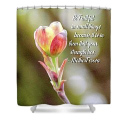 Be Faithful By Mother Teresa Shower Curtain