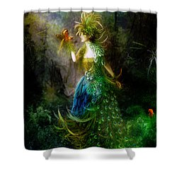 Be Free Little One Be Free Shower Curtain by Mary Hood