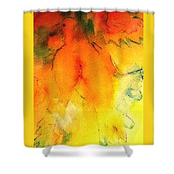 Shower Curtain featuring the painting Be Harmless As Doves by Hazel Holland