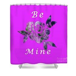 Be Mine Flower Shower Curtain