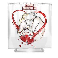 Be Mine, Valentine - Valentine's Day Shower Curtain