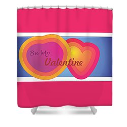 Be My Valentine Card Shower Curtain by Sherril Porter