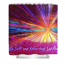 Be Still Shower Curtain by Jeanette Jarmon