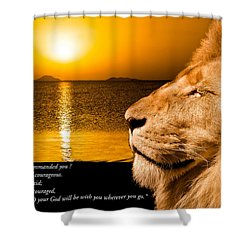 Shower Curtain featuring the photograph Be Strong And Courageous by Scott Carruthers