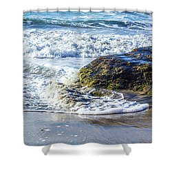 Wave Around A Rock Shower Curtain