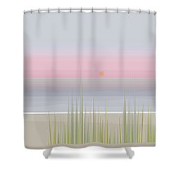 Beach Abstract Shower Curtain by Val Arie