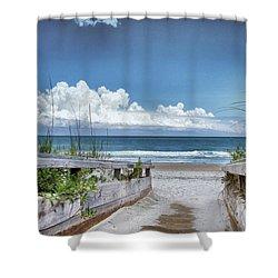 Beach Access Shower Curtain