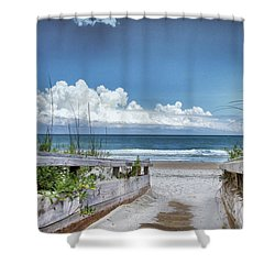 Beach Access Shower Curtain