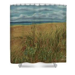 Beach And Clouds Shower Curtain