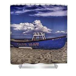 Beach And Lifeboat Shower Curtain