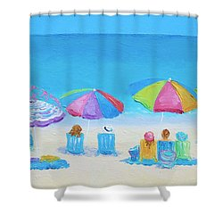 Beach Art - A Golden Day Shower Curtain