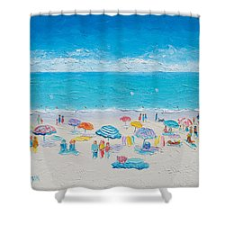 Beach Art - Fun In The Sun Shower Curtain