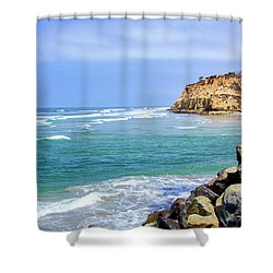 Beach At Del Mar, California Shower Curtain