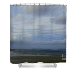 Beach At Enniscrone Shower Curtain by Amy Williams