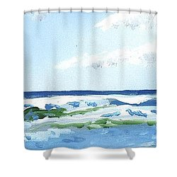 Beach At Isle Of Palms Shower Curtain