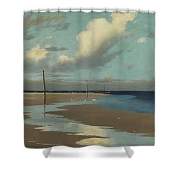 Beach At Low Tide Shower Curtain