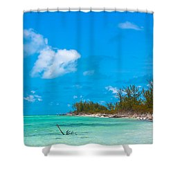 Beach At North Bimini Shower Curtain