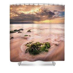 Beach At Paia Shower Curtain