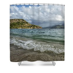 Shower Curtain featuring the photograph Beach At St. Kitts by Belinda Greb